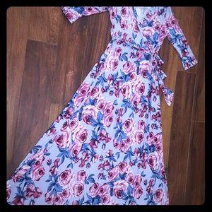 Pinkblush floral wrap maternity maxi dress